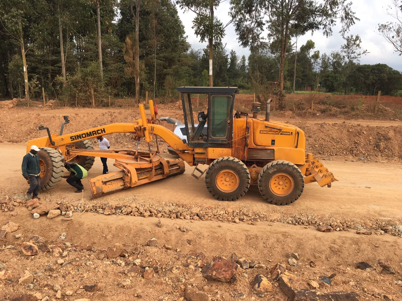 Road grading, compaction - Pullman Excavators Nairobi Kenya